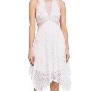 NWT BCBGMaxAzria White/Pink Lace Meilani Dress XXS